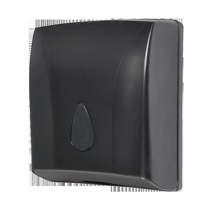 Sanela - Zásobník na skladané papierové uteráky, materiál čierny plast ABS