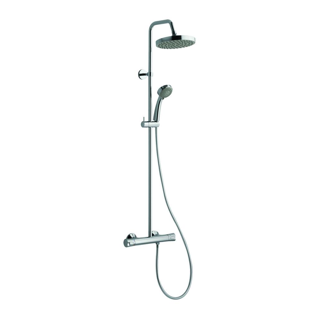 CITY Alpi City - sprchová batéria nástenná termostatická, rozteč 150mm, pevná sprcha + ručná sprcha – komplet 612151