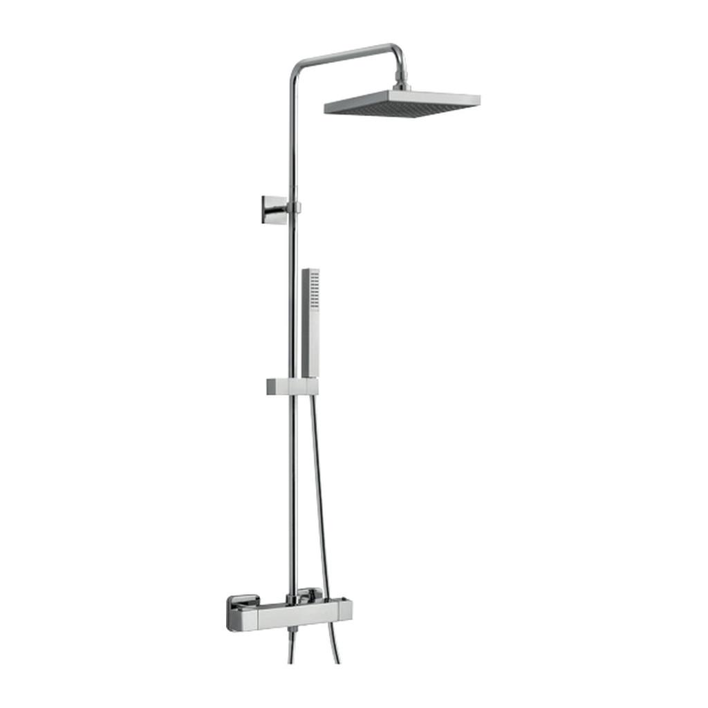 UNA Alpi Una - Sprchová batéria nástenná, pevná sprcha + ručná sprcha, chróm 572151