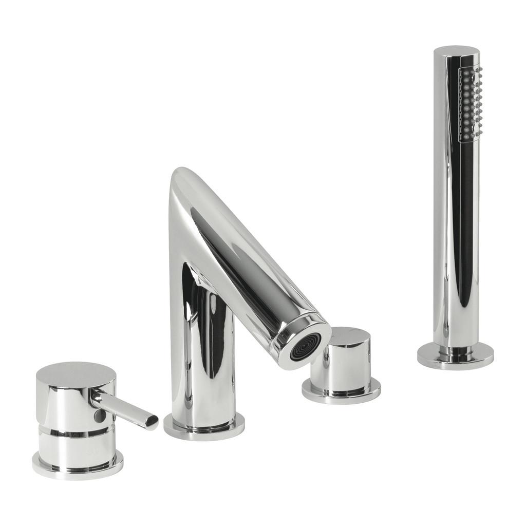 OKRAJOVÉ VAŇOVÉ SYSTÉMY Alpi okrajový vaňový systém - Vaňová batéria stojanková, štvorotvorová, chróm M21D30127