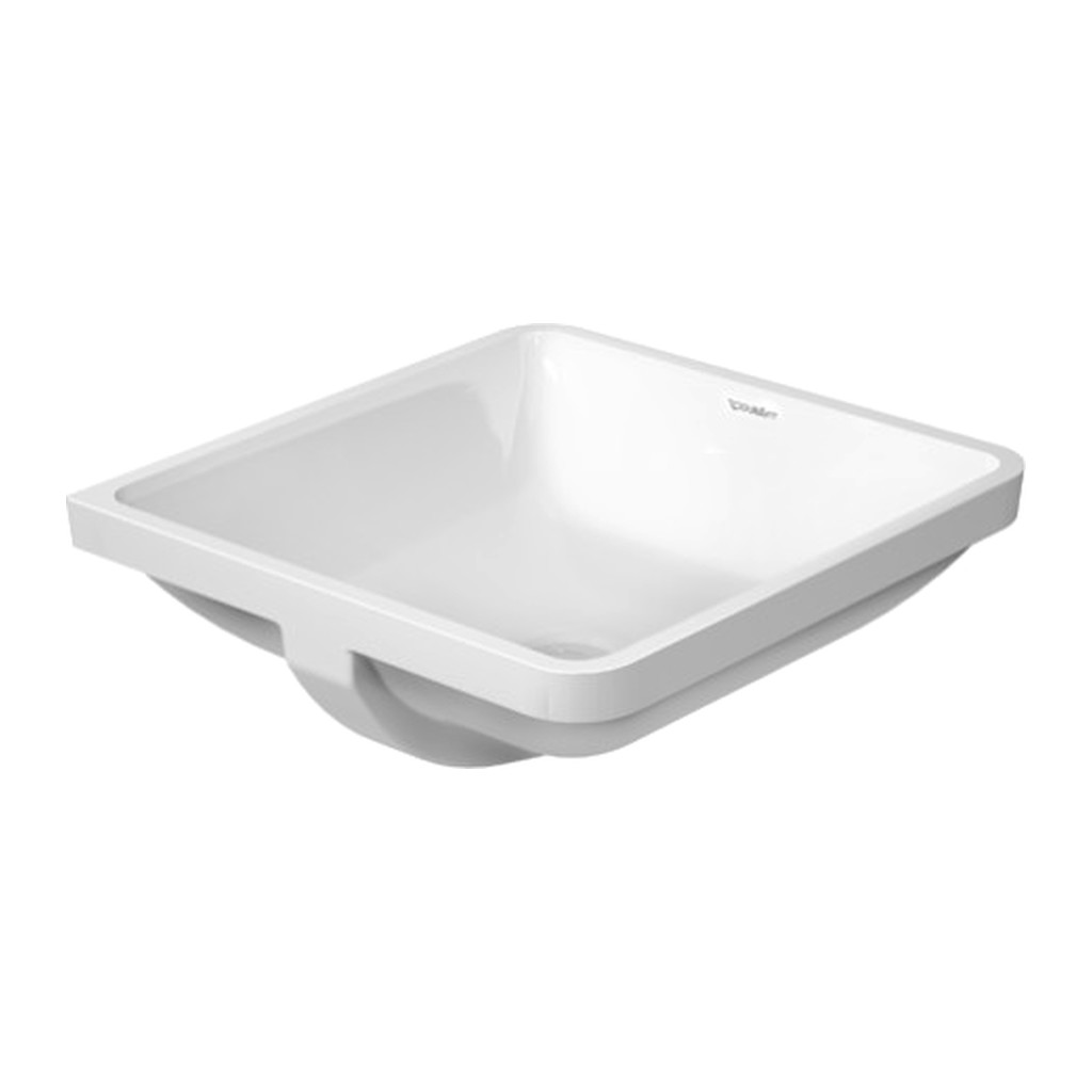 STARCK 3 Duravit Starck 3 - Vstavané umývadlo, hladké, 43 x 43 cm, biele 0305430000