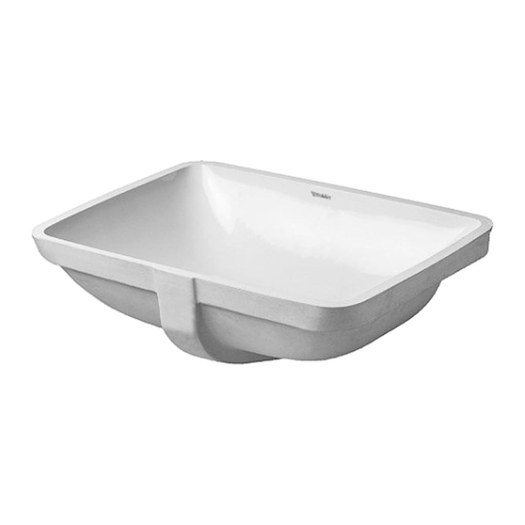 STARCK 3 Duravit Starck 3 - Vstavané umývadlo, hladké, 490 x 365 mm, biele 0305490022