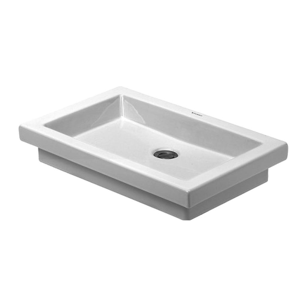 2ND FLOOR Duravit 2nd floor - Vstavané umývadlo, pre zabudovanie zhora, bez otvoru pre armatúru, 580 x 415 mm, biele 0317580029