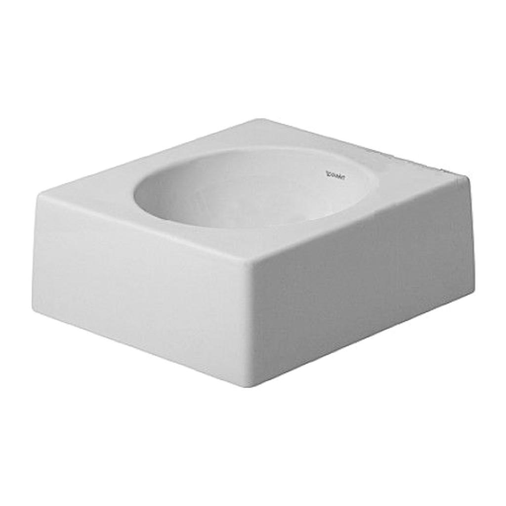 ARCHITEC Duravit Architec - Umývadlová brúsená misa, 40x40 cm, biela 0320400000