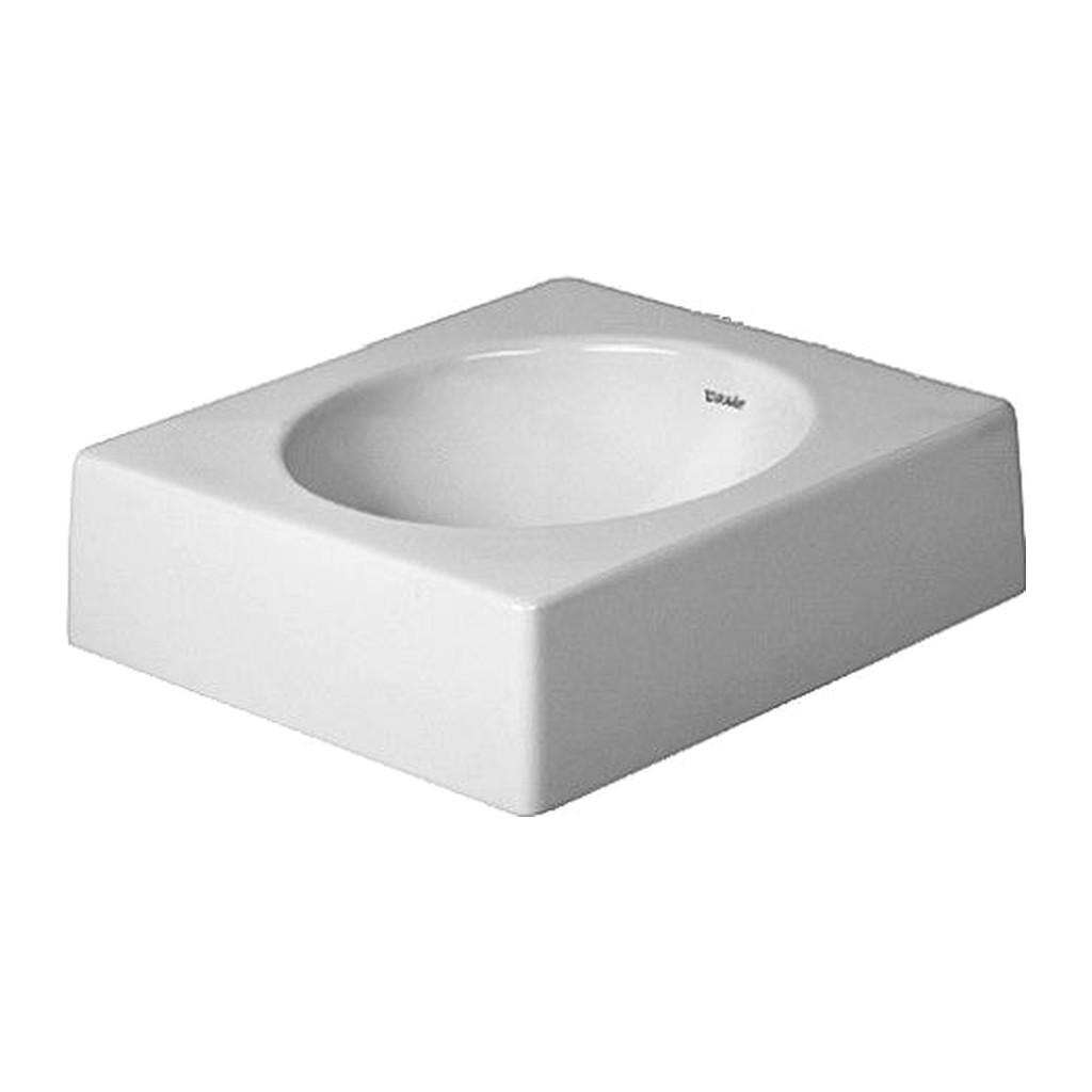 ARCHITEC Duravit Architec - Umývadlová misa brúsená, 45x45 cm, biela 0320450000